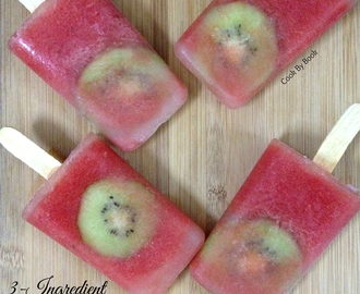 3-Ingredient Watermelon Kiwi Popsicles