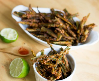 Kurkuri Masala Bhindi (Indian Crispy Fried Okra)