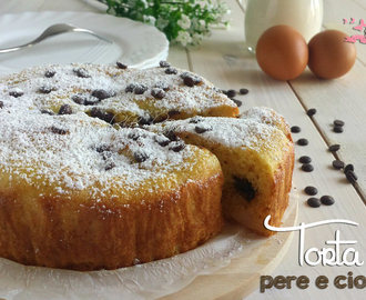 Torta light pere e cioccolato