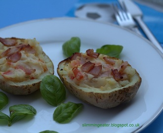 Bacon and brie potato skins