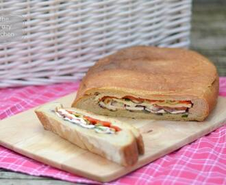 Cheese & Roasted Vegetable Picnic Loaf
