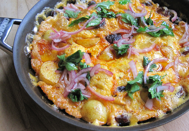 Potato and Chorizo Omelette - Jamie Oliver Recipe