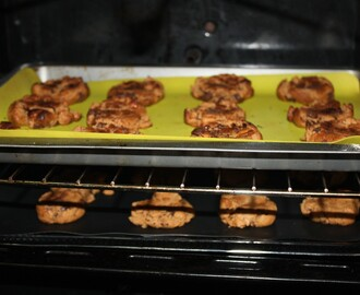 Peanut butter&chocolate chip cookies (sem farinha)