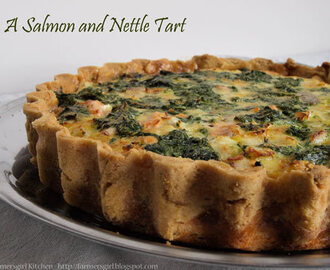 A Salmon and Nettle Tart - Dish of the Month