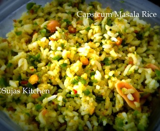 Capsicum (Green Bell Pepper) Masala Rice