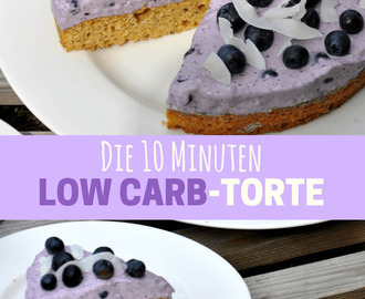 Die 10 Minuten Low Carb Torte