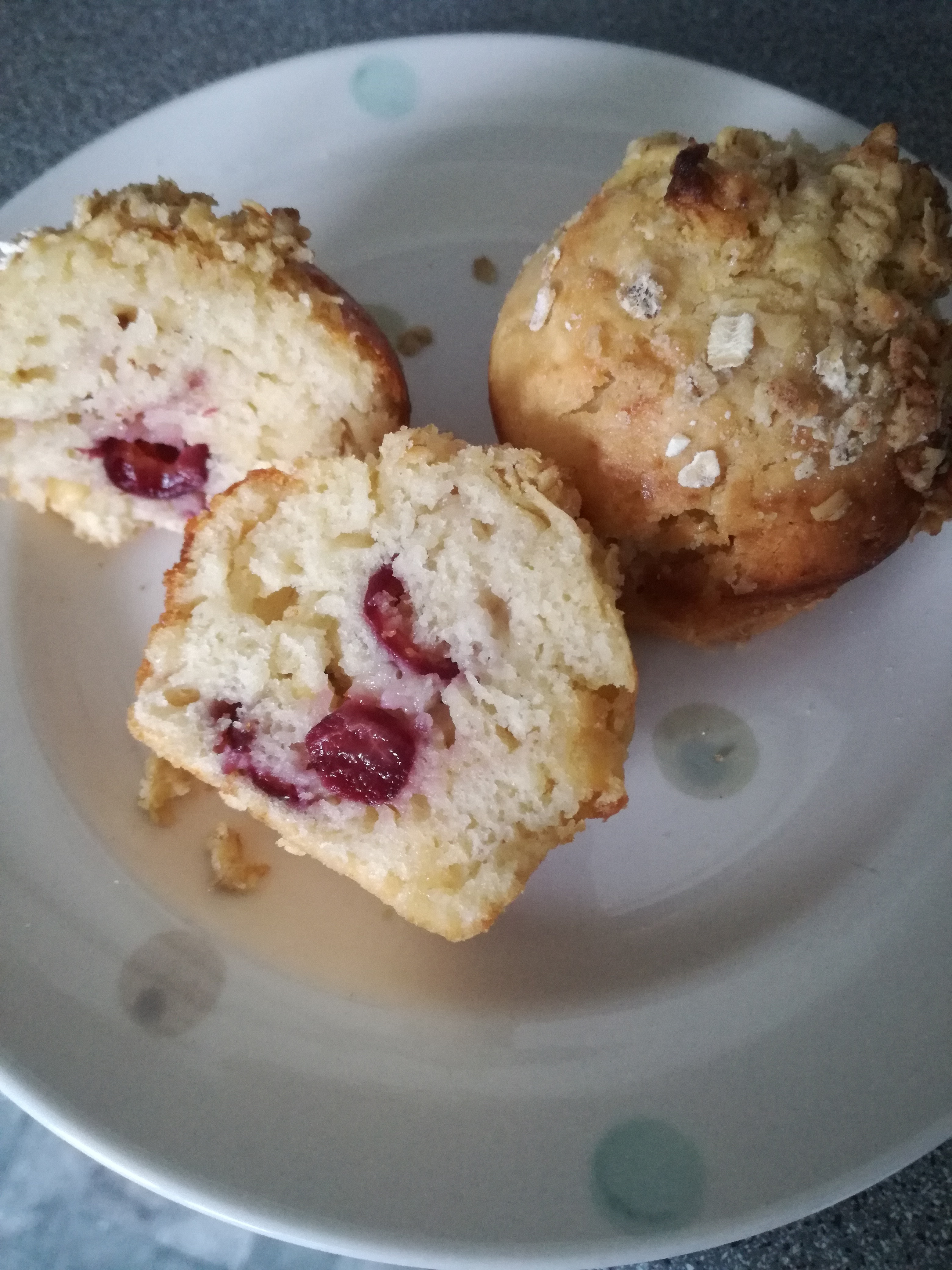 Cherry & White Chocolate Muffins