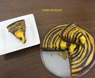 Chocolate Marble Cake - Eggless & Butterless Version