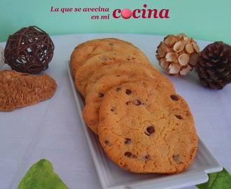 Maxi cookies con chips de chocolate negro y blanco.