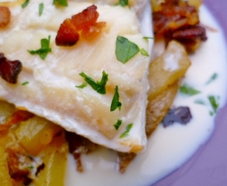 perfect whatever the weather: nigel slater's smoked haddock, potato and bacon