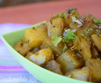 Stir Fried Potato With Cumin Seeds/ Aloo Jeera