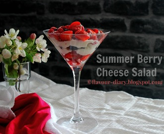 Summer Berry Cheese Salad Recipe | Easy recipes | Cooking with Kids | Flavour Diary