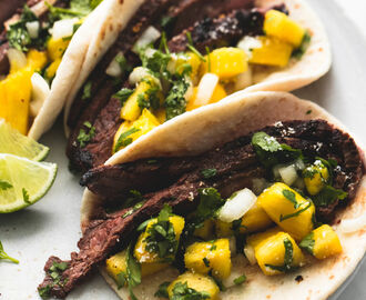 Jamaican Jerk Steak Tacos