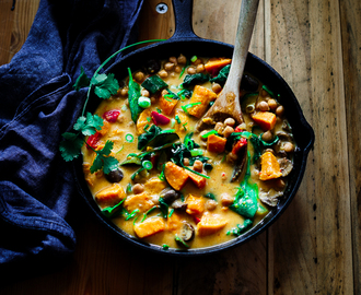 Thai Sweet Potato, Chickpea and Mushroom Curry