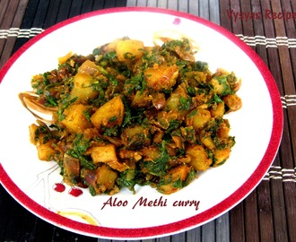 Aloo methi sabzi recipe - Aloo Methi Curry Recipe - Potato With Fenugreek leaves
