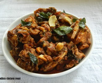 Andhra chicken roast with stepwise pictures