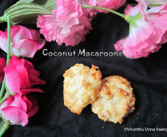 COCONUT MACAROONS - EGG LESS