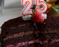 Trible Birthday Chocolate Cake