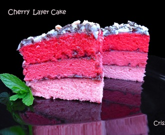CHERRY LAYER CAKE Y 2º CUMPLEBLOG