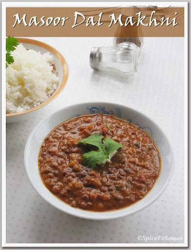Masoor Dal Makhni.. (Whole Red Lentil Curry)
