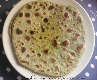 Methi Paratha (Fenugreek leaves flatbread)