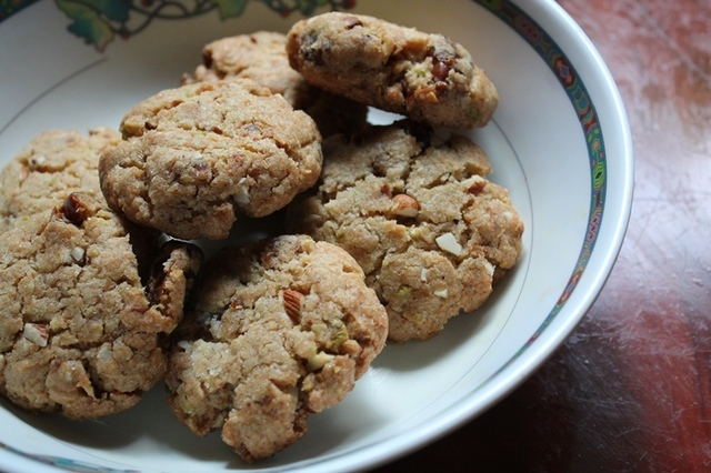 Eggless Nuts, Coconut & Dates Cookies Recipe / Eggless Nuts Cookies Recipe / Dates Cookies Recipe