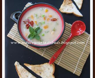 Creamy Oats -Vegetable Soup And It's All In The Family....