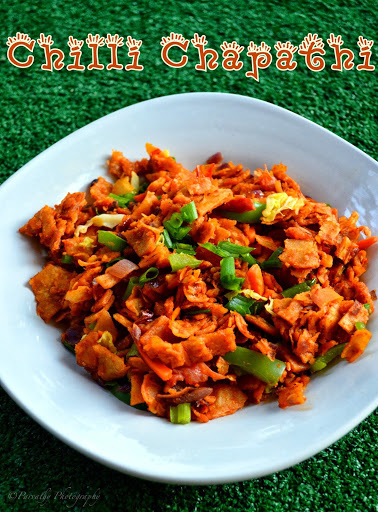 Chilli Chapathi Recipe - Recipe with Left over Chapathi