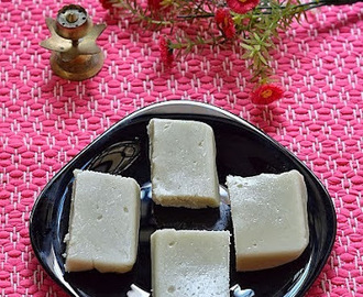 Maida burfi recipe- how to make fudge with plain flour - Easy diwali sweets recipes