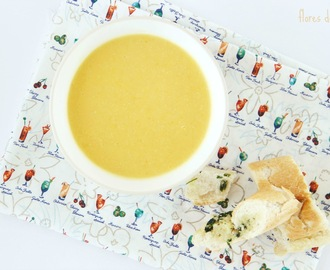 Creme de couve flor, cenoura e gengibre • Cauliflower, carrot and ginger soup