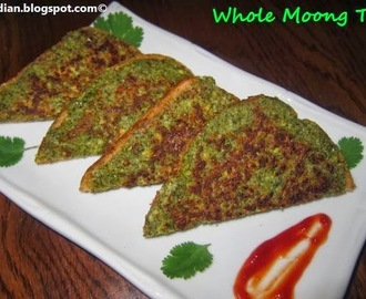 Green Gram Toast /Whole Moong Toast /Healthy Mung Toast