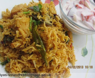 Quick Pressure Cooker Chicken Biryani