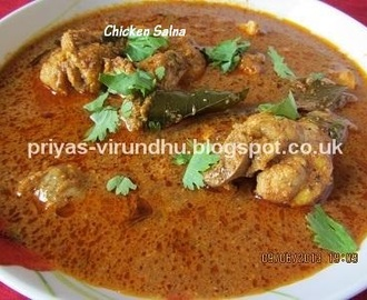 Chicken Salna/Thattukadai Chicken Salna