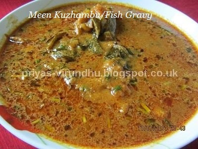 Fish Gravy/Meen Kuzhambu [South Indian Style]