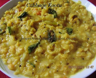 Cabbage /Muttai Gose kootu [with channa dal/kadalai paruppu]