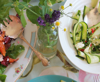 three summer salads with feta