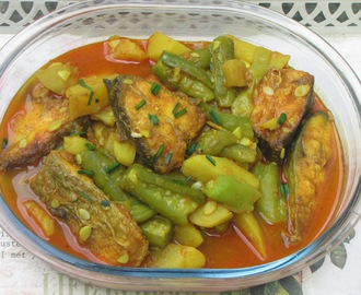 Fish Curry With Ridge Gourd & Potatoes