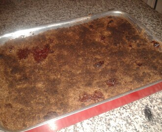 Crumble de Chocolate e morangos