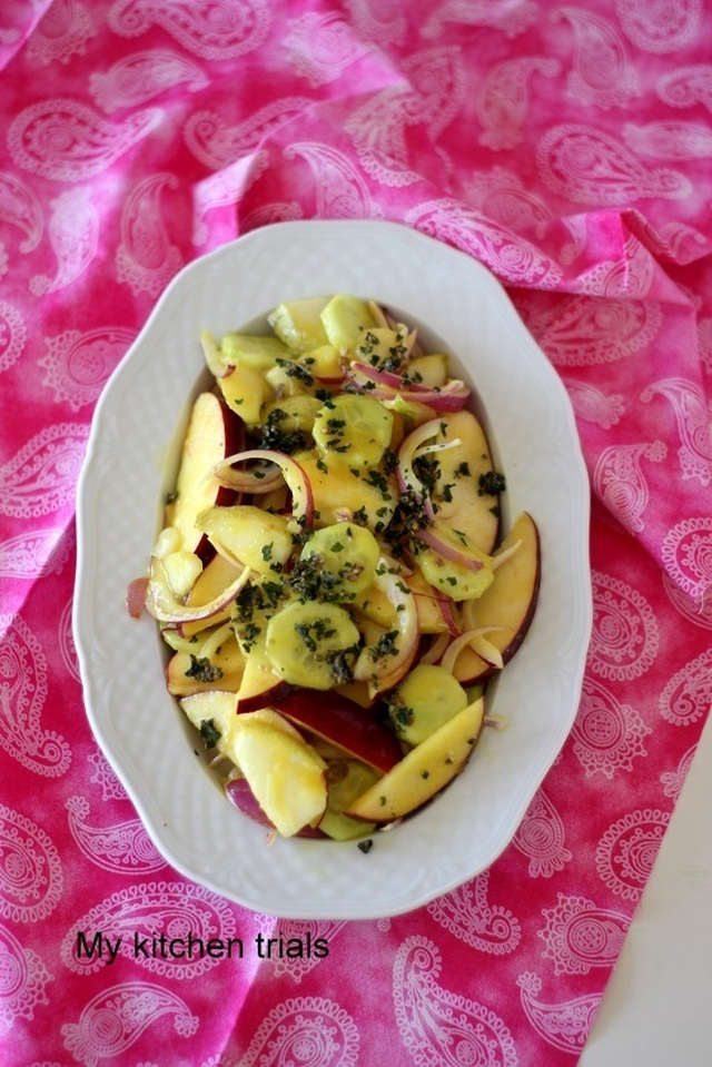 Apple Pear Cucumber Salad