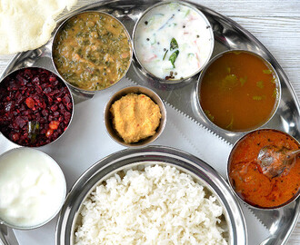 Simple Everyday South Indian Thali