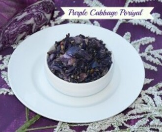 Purple Cabbage Poriyal