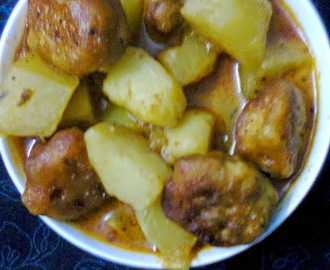 Veg. Recipe  -  Papaya and Besan (Bengal Gram Flour) Pakoda.
