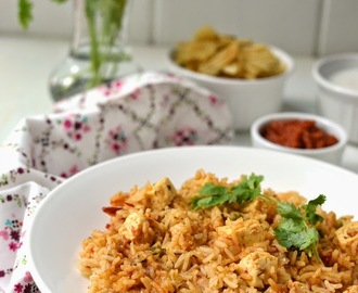 Quick Paneer Pulao (Pressure Cooker Method)