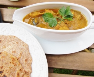 Chapatis and Malaysian Chicken Curry