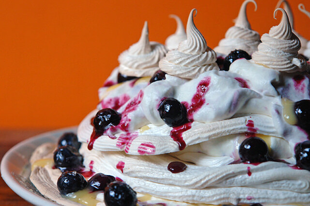 Cakes & Bakes: Lemon and blueberry Pavlova