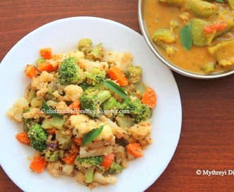 Kaikari Pirattal / Chettinad Vegetable Peratal