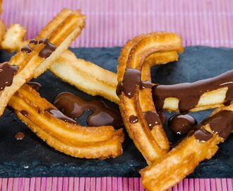 Churros caseros con Chocolate