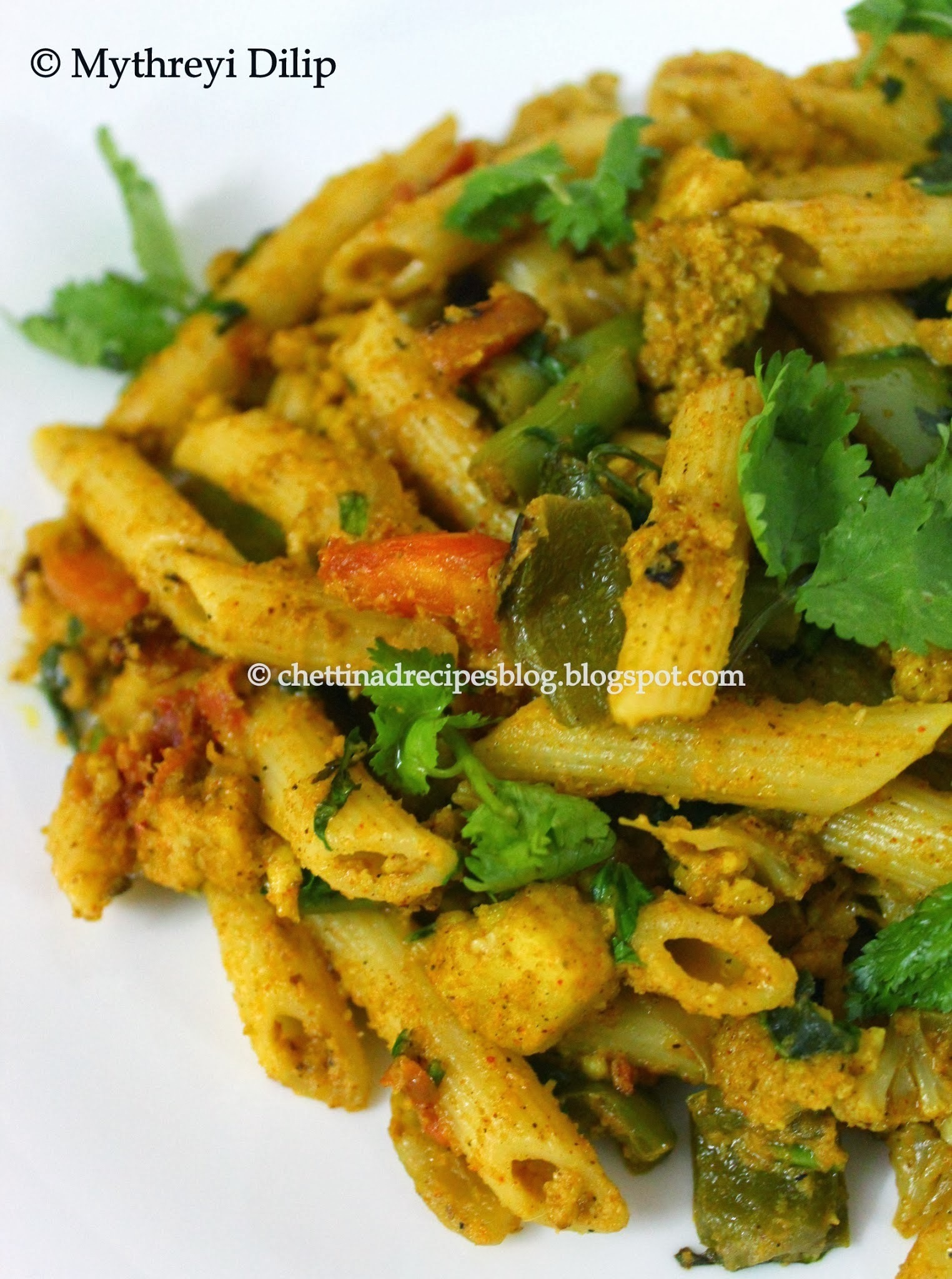 Chettinad Vegetable Pasta / Masala Pasta / Pasta Chettinad