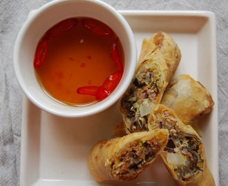 Farlig godt: Crispy Asian Spring Roll...