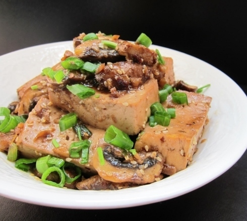Spicy Tofu with Mushrooms Recipe for Meatless Monday